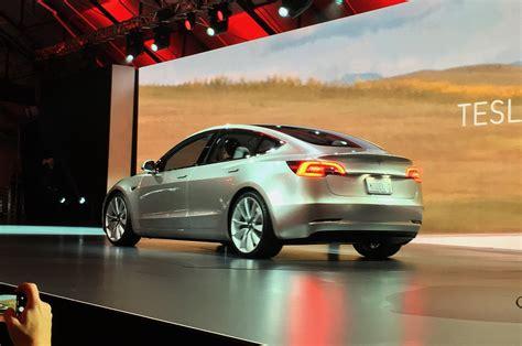 price of teslas tesla model 3 electric sedan revealed