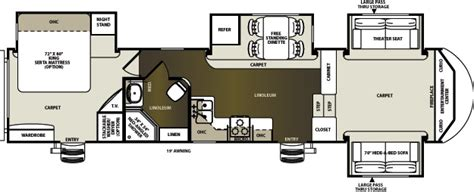 sandpiper rv floor plans sandpiper fifth wheel by forest river