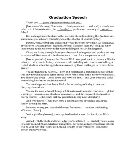 Academic Speech Sle graduation speech exle best resumes