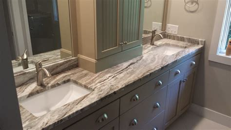 Atlanta Kitchen Designers by Fantasy Brown Marble Eased Edges Beach Style