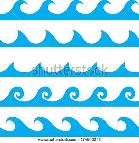 wave pattern vector art seamless vector blue wave line pattern stock vector