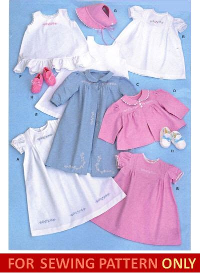 sewing pattern make vintage style layette clothes baby
