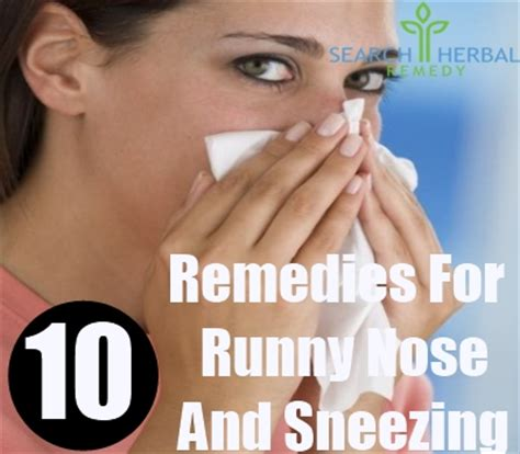 sneezing and runny nose 10 home remedies for runny nose and sneezing treatments cure for runny