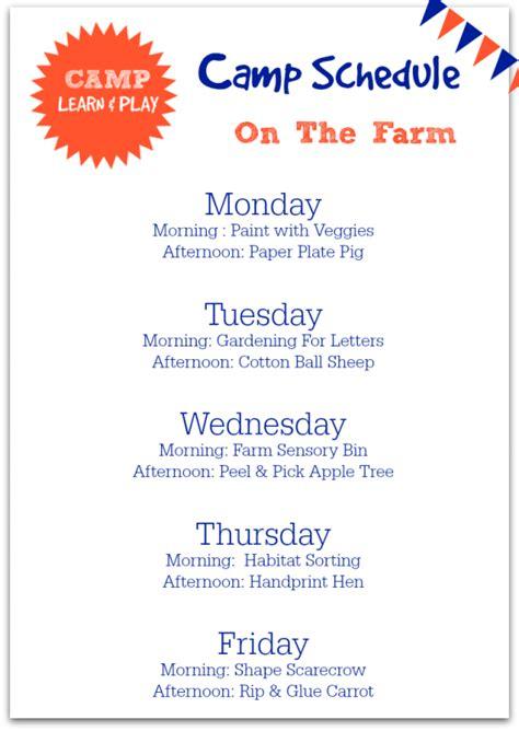 theme topics list c learn play free summer c at home farm theme