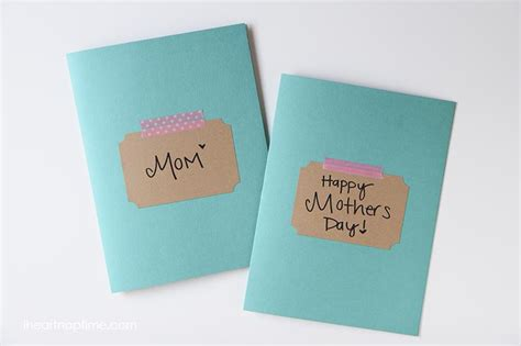 Simple Handmade Mothers Day Cards - easy handmade mothers day gift idea