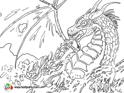 coloring pictures of dragons breathing fire trace able coloring page for fire breathing dragon