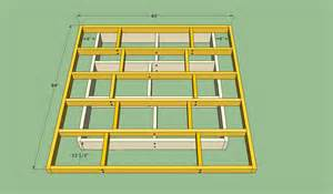 Bed Frame Drawings Platform Bed Frame Plans Howtospecialist How To Build