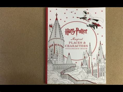 harry potter coloring book places and characters harry potter magical places coloring book flip through