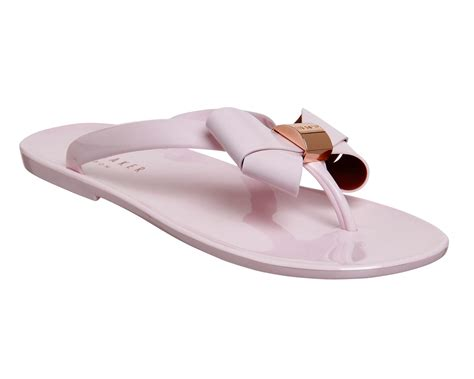 light pink womens womens ted baker ettiea flip flop light pink sandals ebay