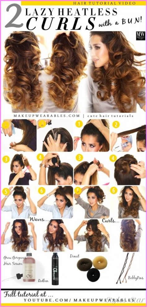 hairstyles for thick hair no heat curly hair no heat overnight stylesstar com