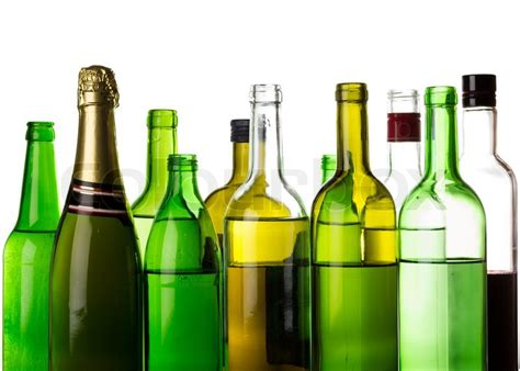 alcoholic drinks bottles different alcohol drinks bottles isolated on white stock