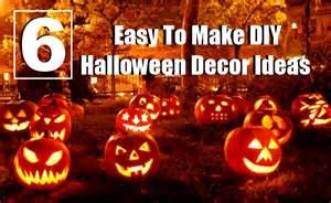Halloween Decorations Easy To Make At Home by 6 Easy To Make Diy Halloween Decor Ideas Diy Home Things