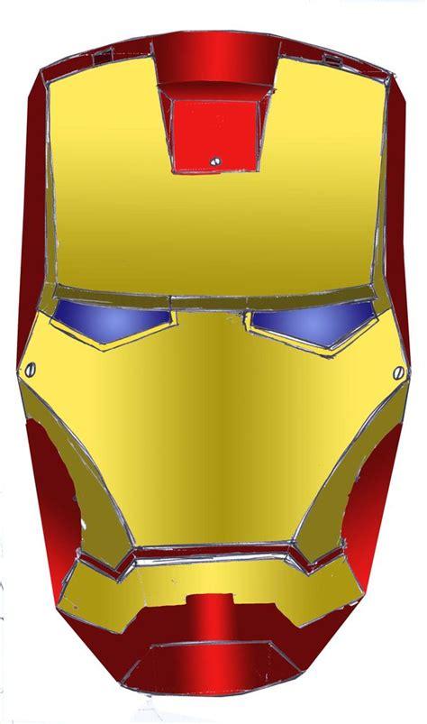 Ironman Mask Template by Iron Helmet