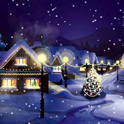christmas snowfall animated wallpaper