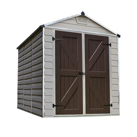 palram  ft   ft tan skylight shed   home depot