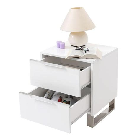 Table De Nuit Wengé by Table De Nuit Design Laqu 233 E Blanche Halifax Achat Vente