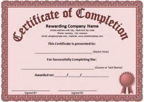 Class Completion Certificate Template by Word Certificate Template 31 Free Sles
