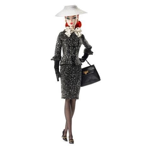black doll target 174 collector bfmc black white tweed suit doll target