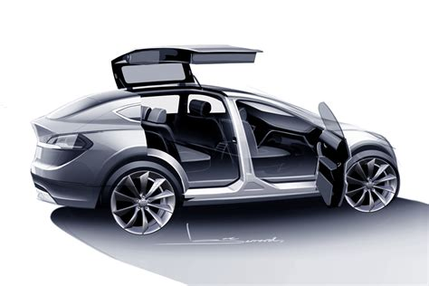 Teslas Model X Tesla Model X Prototype In Motion