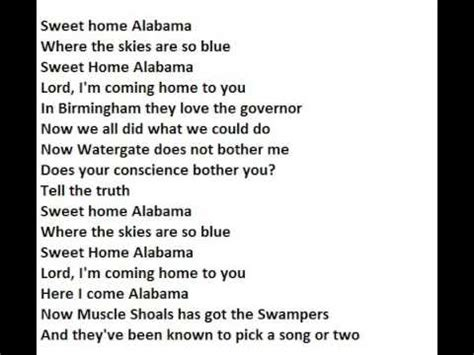 sweet home alabama lyrics