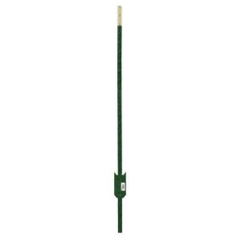 hdx 6 ft heavy duty steel green painted t post 901176hd