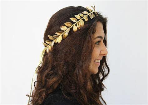 what typr of hair is neede for goddess braids gold leaf crown gold leaf hair wreath goddess greek