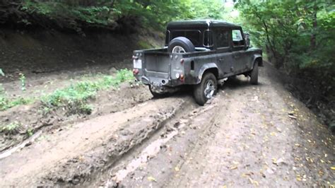 land rover 110 off road land rover defender 110 pick up off road youtube