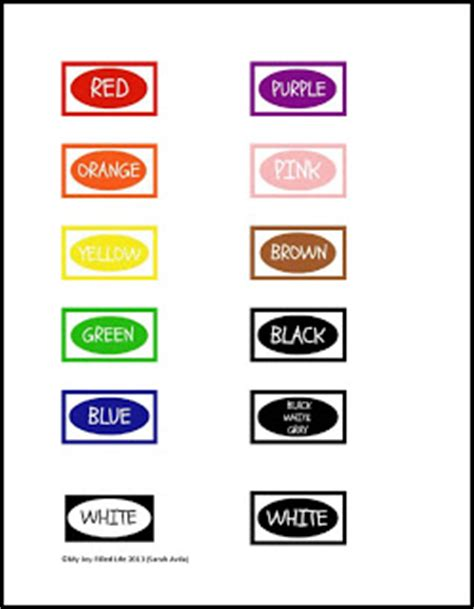 crayon organization color labels printable my joy