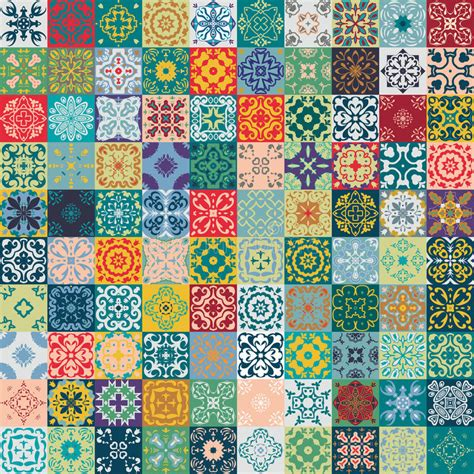 Moroccan Patchwork Tiles - gorgeous floral patchwork design moroccan or