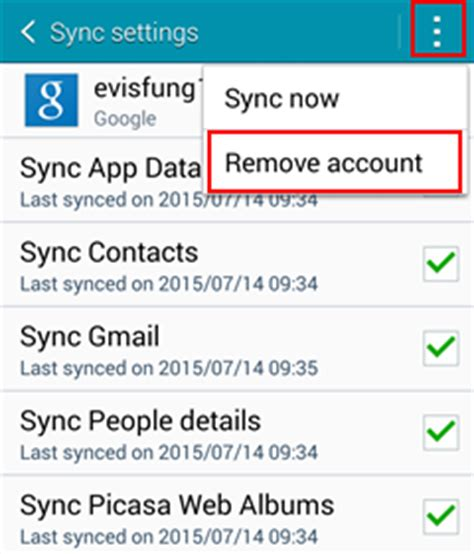 how to delete gmail account on android