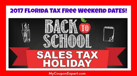 florida tax free weekend dates for 2017 released look