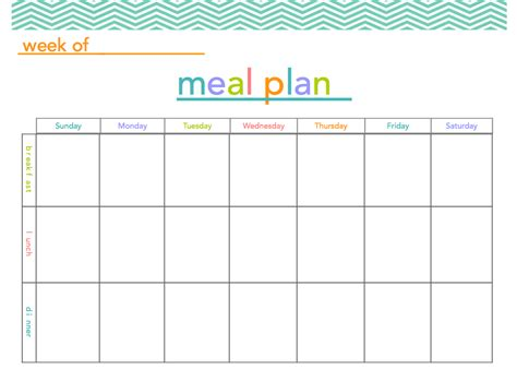 Free Meal Plan Printable Makes Meal Planning A Little More Fun Organization Pinterest Meal Plan Template Printable