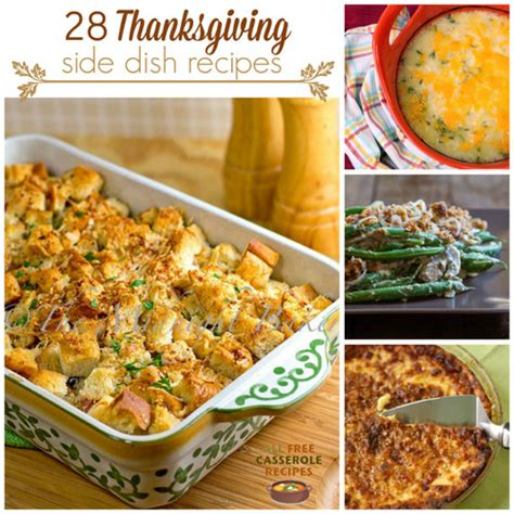 side dishes recipes 28 thanksgiving side dish recipes allfreecasserolerecipes