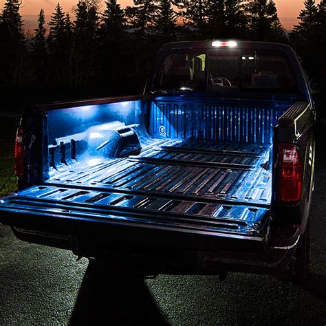 truck bed led light strip battery powered led light strips kit single color 2