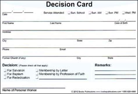 decision card single style