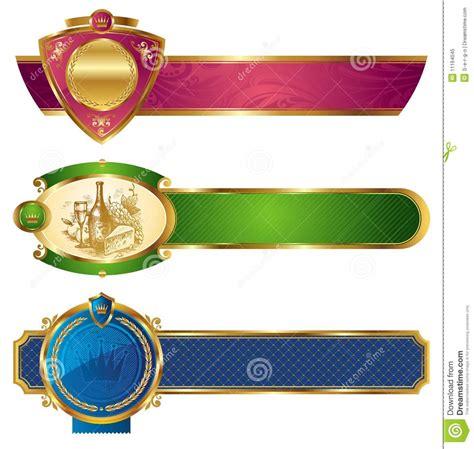 vector luxury banner border royalty free stock photos framed golden luxury banners royalty free stock photo