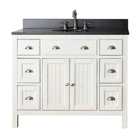 42 Bathroom Vanity With Granite Top Hamilton White 42 Inch Vanity Combo With Black Granite Top Avanity Vanities Bathroo