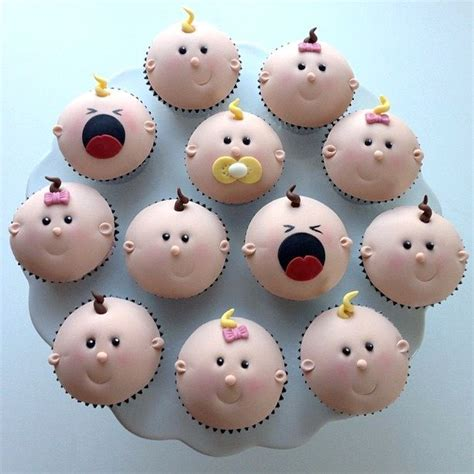 Baby Cupcakes These Are So Cute The Crying Babies Make Cupcake Nursery Decor