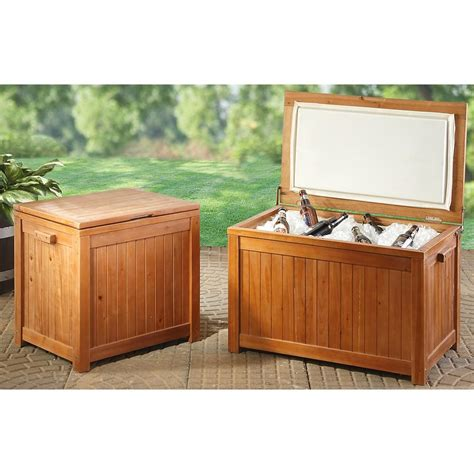 Wooden Patio Cooler by Guide Gear 174 44 Qt Wooden Patio Cooler 196901 Patio