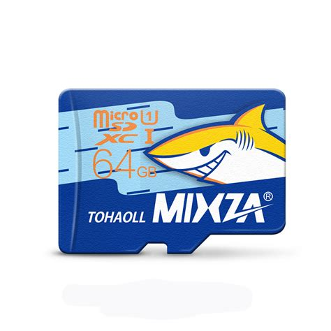 Memory Card Kamera 64gb mixza shark edition memory card 64gb micro sd card class10