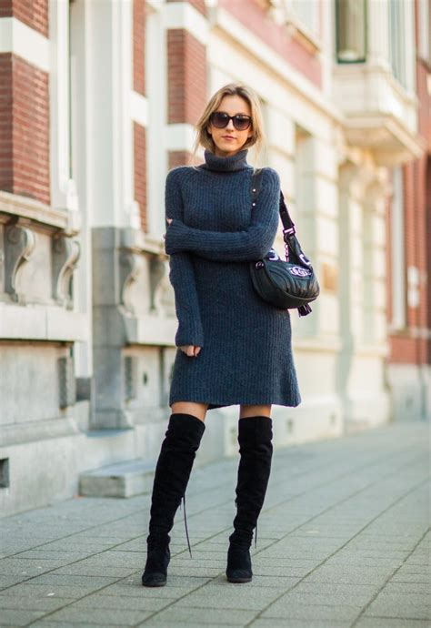 sweater dress cool ways to wear the sweater dress