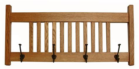 Mission Coat Rack by Hardwood Deluxe Mission Coat Rack With Four Large Shaker