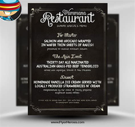 free menu template psd 32 awesome free psd flyer templates web graphic design