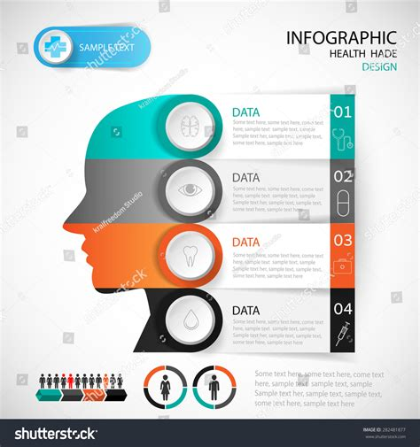 medical web design layout medical infographic design head template graphic stock