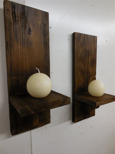 Lantern Candle Sconce Barn Wood Wall Sconces Primitive Candle By Lynxcreekdesigns