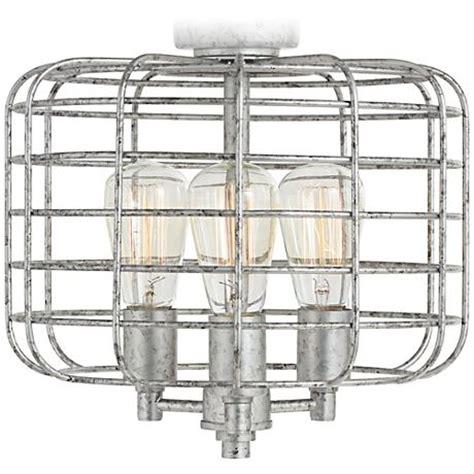 Industrial Cage Ceiling Fan by Industrial Cage Galvanized Steel Ceiling Fan Light Kit