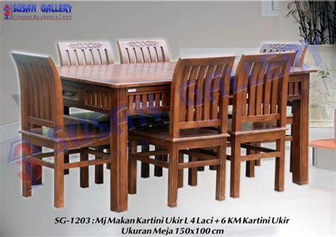 Meja Makan Kartini Ukir meja makan jati kartini pusat mebel mebel murah mebel jati