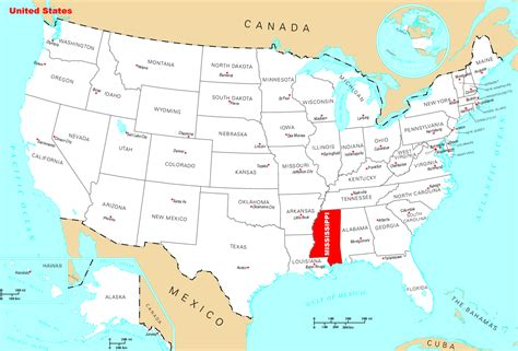 where is usa located on the world map large location map of mississippi state mississippi state