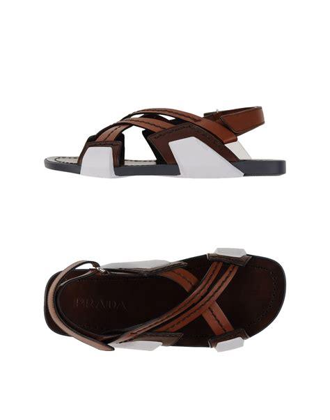 prada sandals prada sandals in gray for lyst
