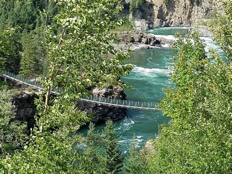 kootenai falls swinging bridge roadtrip 2017 exploring the west day 13 blue oval trucks